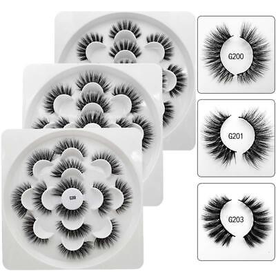 AU13.99 • Buy 7Pairs 3D Mink Lashes Faux Natural False Eyelashes Fluffy Fake Eyelash Extension