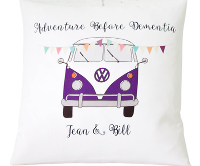£6.50 • Buy Personalised Purple Campervan - 16  Cushion Cover Shabby/wedding/gift Charity