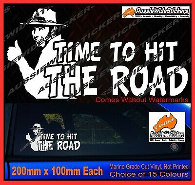 AU6.90 • Buy  TIME TO HIT THE ROAD Sticker YTB Coight Funny Bogan VB Straya 4x4 Decal 200mm
