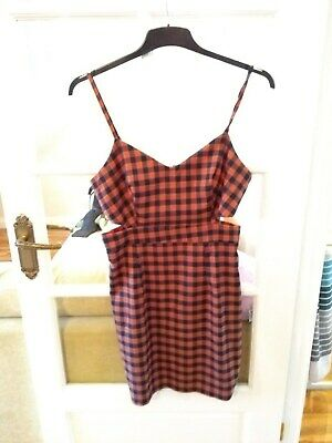 Hearts And Bows Orange Size 14 Check / Tartan Mini Dress With Cutouts • 8£
