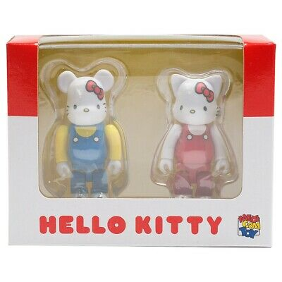 $40 • Buy Medicom BE@RBRICK Hello Kitty 100% Bearbrick And Nyabrick Figure Set