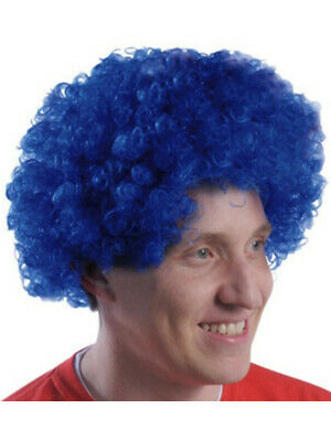 $4.98 • Buy New Mens Womens Child Costume Blue Afro Disco Wigs