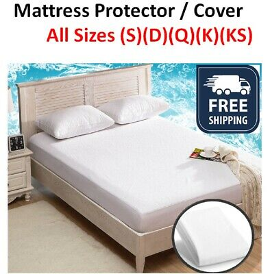 AU29.90 • Buy Mattress Protector Bamboo Bed Matress Waterproof Single King Queen Double NEW