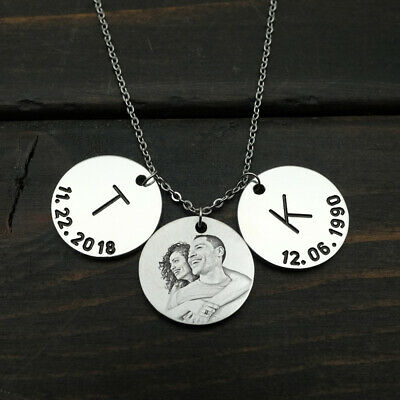 AU21.37 • Buy Personalized Photo Necklace Custom Picture Necklace Valentines Day Gift For Her