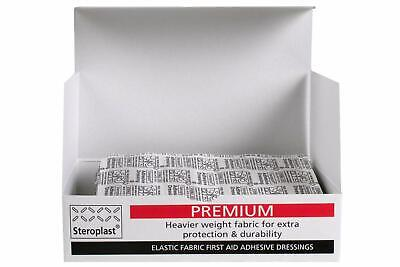 £6.45 • Buy Box Of Steroplast Premium Elastic Fabric Plasters First Aid Assorted Fingertip