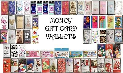 Money Gift Card Wallet - Birthday, Kids, Open, Ages, Baby, Wedding, Christmas • 1.50£