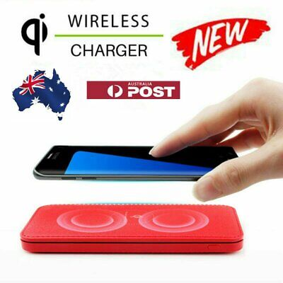 AU17.99 • Buy Qi Portable Wireless Universal Charger Dual-USB Battery Power Bank 2 IN 1