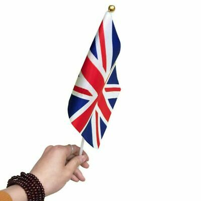 Small Union Jack UK Hand Flag - England British Game Supporter Car Travel Banner • 2.99£