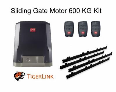 AU795 • Buy Italian Sliding Gate Motor BFT 600kg 24V DC Complete Kit 4M Rack With 3 Remotes