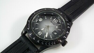 c5f4f2f227ad Relic By Fossil Black   Gray Day Men s Watch ZRJ11004 • 6.50