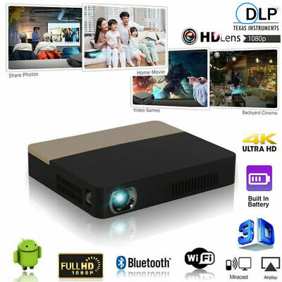 AU653.13 • Buy 8500 Lumens 4K DLP 3D Home Theater Projector Wifi HD 1080P Video Cinema HDMI SD