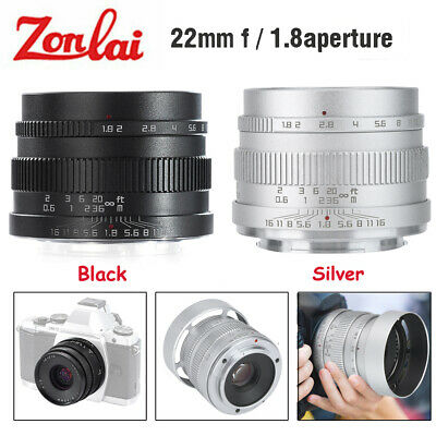 AU201.81 • Buy Zonlai 22mm F1.8 Wide Angle Manual Focus Lens For Sony E-Mount APS-C Mirrorless