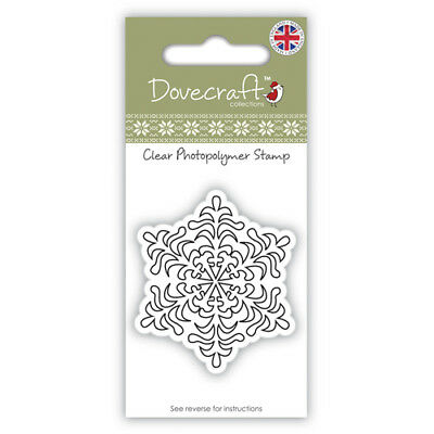 Dovecraft Christmas Clear Cling Stamp - Snowflake • 2.19£