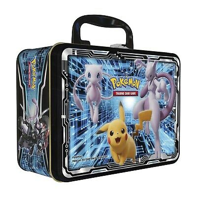 Pikachu Mew Mewtwo Collectors Chest Tin Empty - Pokemon Card Storage - Lunch Box • 14.99£