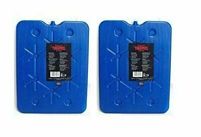 2 X Thermos Freeze Board Ice Pack Large Ice Block Flat Travel Ice Box Pack 800g • 11.99£