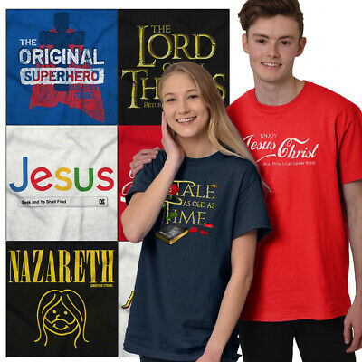 $12.99 • Buy Christian Tees Shirt Graphic Religious T Shirt For Mens Womens Religion Tshirts