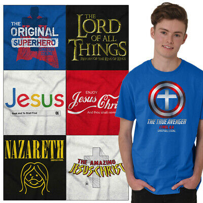 $14.88 • Buy Christian Tee Shirt Religious T Shirts For Mens Pop Culture Novelty Gift Tshirts