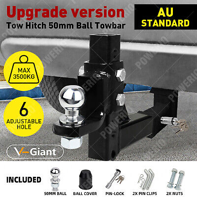 AU85 • Buy Adjustable Height Tow Hitch 50mm Ball Towbar Drop Mount Tongue Trailer 4WD Car