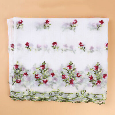 Embroidered Floral Sheer Voile Curtains For Living Room Bedroom Kitchen ONE • 4.54£
