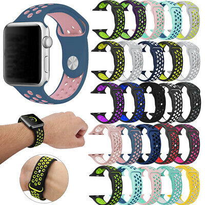 $ CDN4.99 • Buy Replacement Silicone Wrist Bracelet Sport Band Strap For Apple Watch 40/44 38/42