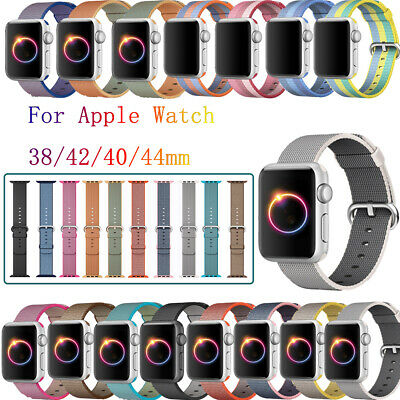 $ CDN6.99 • Buy Nylon Straps Band For Apple Watch Sport IWatch Series 4/3/2/1 38/42mm 40/44mm