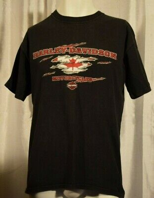$ CDN9.77 • Buy Vtg Harley Davidson Spankys Peterborough ON T-Shirt Mens M  Motorcycle