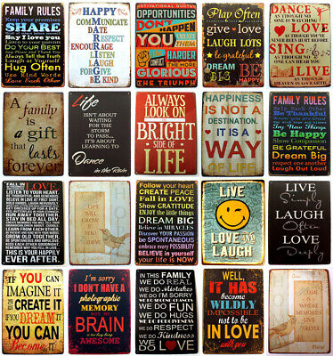 Metal Tin Retro Sign Motivational Quotes Plaque Vintage Wall Home Decor Poster  • 4.89£