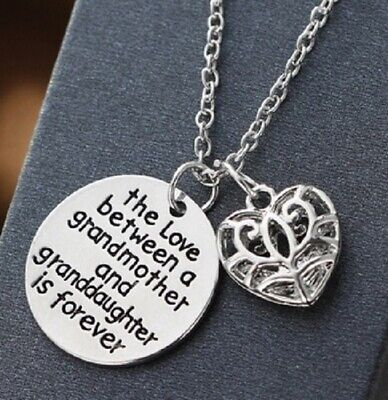 Love Between Grandmother Granddaughter Is Forever Silver Necklace Grandaughter  • 5.95£