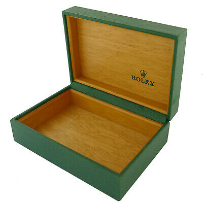 $ CDN126.95 • Buy Vintage Rolex Green Leather Box Wooden Interior Without The Pillow 68.00.04