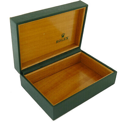 $ CDN120.27 • Buy Vintage Rare Rolex Green Leather Box Wooden Interior Without The Pillow 68.00.55