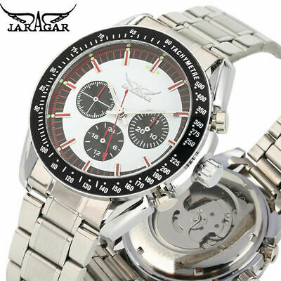 £18.65 • Buy JARAGAR Mens Watches Stainless Steel Band Auto Mechanical Business Wristwatch