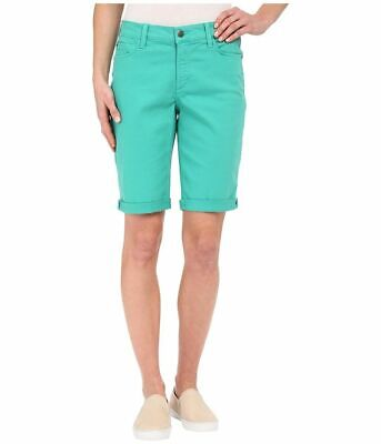 $19.99 • Buy NWT NYDJ Not Your Daughters Jeans Denim Jade Mint Cuffed Women's Petite Shorts