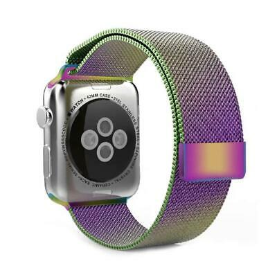 AU13.35 • Buy COMPATIBLE APPLE WATCH BAND STAINLESS STEEL MILANESE LOOP-42mm/44mm MultiColor