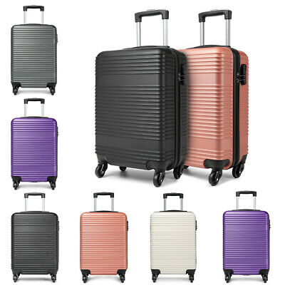 Hard Shell Cabin Suitcase Case 4 Wheels Luggage Lightweight 20 Inch • 19.99£