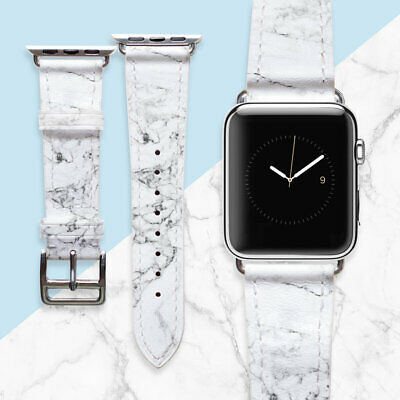 AU49.44 • Buy Apple Watch Band 42mm Women Gift Marble Accessories For Smart Watch Leather 38mm