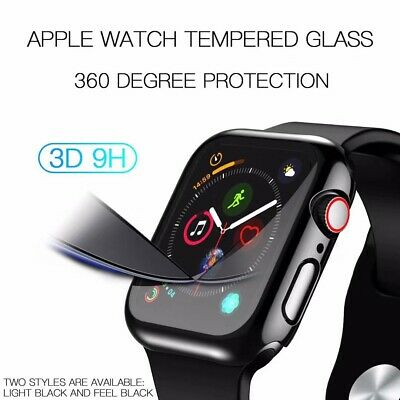 $ CDN9.45 • Buy Apple Watch Series 5/4 40mm 44mm Full Body Cover Case 3D Tempered Glass Protect