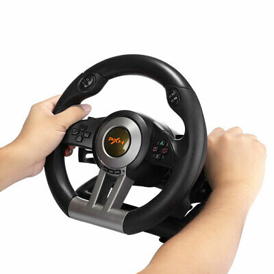 New PXN V3II Racing Game Steering Wheel With Brake Pedal For PC/PS4/Xbox One • 74.59$