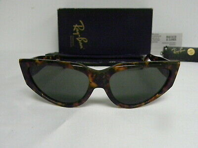 $249.99 • Buy New Vintage B&L Ray Ban Onyx Style 4 Gold Tortoise W0804 Cat Eye NOS Sunglasses