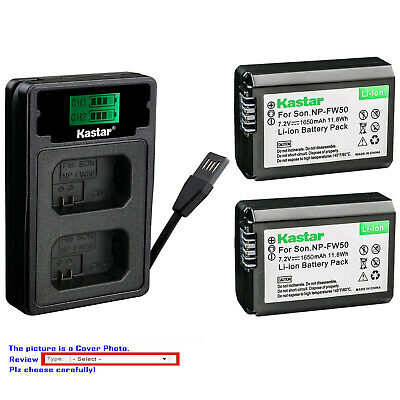 $ CDN13.83 • Buy Kastar Battery LCD Dual Charger For Sony NP-FW50 BC-VW1 & ILCE-6000 Alpha A6000