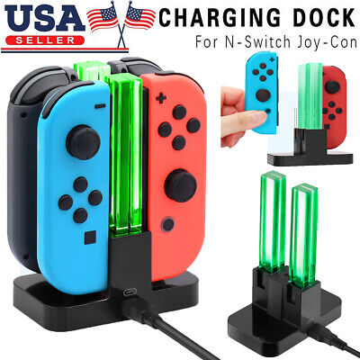 $11.59 • Buy 4 In 1 LED Controller Charger Charging Dock Station For Nintendo Switch Joy-con