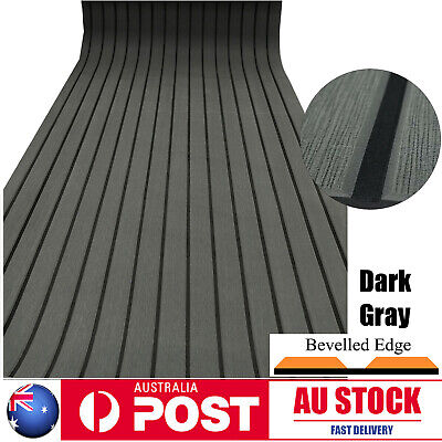 AU75.99 • Buy 240×90cm Boat Decking EVA Foam Sheet Marine Yacht Teak Flooring Carpet Dark Grey