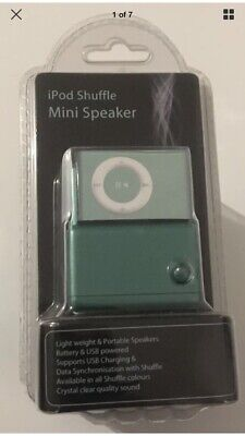 IPod Shuffle Mini Speaker Sealed Green Lightweight Portable Battery/USB Powered • 8.99£