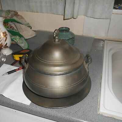 £14 • Buy French, Etain (pewter) Tureen, Approx 9 1/2   Diam, Excluding Top, 4 1/4  High,
