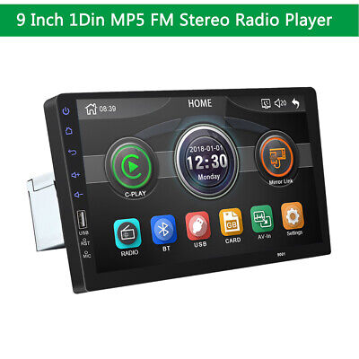 AU125.15 • Buy 9inch MP5 FM Player Car Stereo Radio Single 1 DIN HD Touch Screen For Car SUV