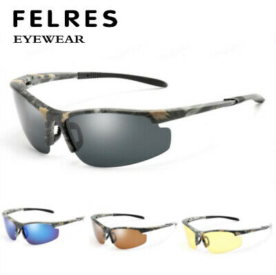 AU6.42 • Buy Men Polarized Sports Sunglasses Camouflage Frame Ourdoor Driving Cycling Glasses