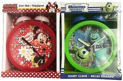 Disney Giant Bedside Children's Clock Minnie Mouse Or Monsters University • 5.99£