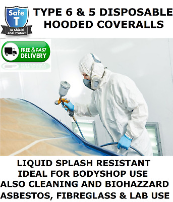 £7.99 • Buy Disposable Coverall Hooded (type 6 & 5 Same As Tyvek) Spray Suit,paint Body Shop