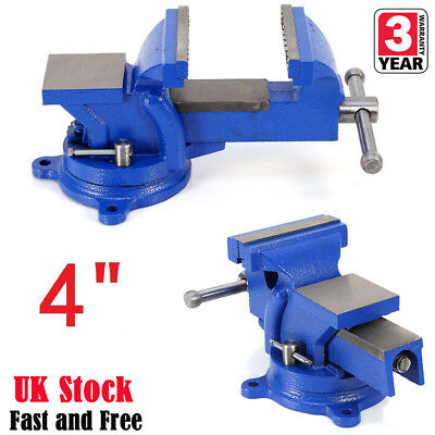 Heavy Duty 4  Work Bench Vice Vise Workshop Clamp Engineer Jaw Swivel Base Table • 16.99£
