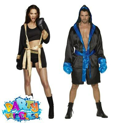 £33.99 • Buy Adult Boxer Costume Mens Womens Rocky Knockout Fighter Fancy Dress Outfit