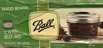 12 Ball Jelly Elite Collection Jam Jars Clear 4oz. • 21.99$